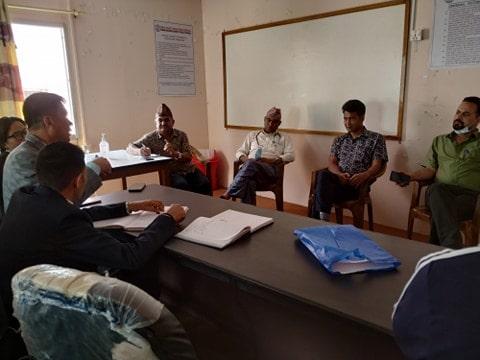 बागमती प्रदेश अस्पताल र मदन भण्डारी स्वास्थ्य बिज्ञान प्रतिष्ठानका प्रमुख एवं कन्सल्टेन्ट डाक्टरहरुसँग भएको बैठक