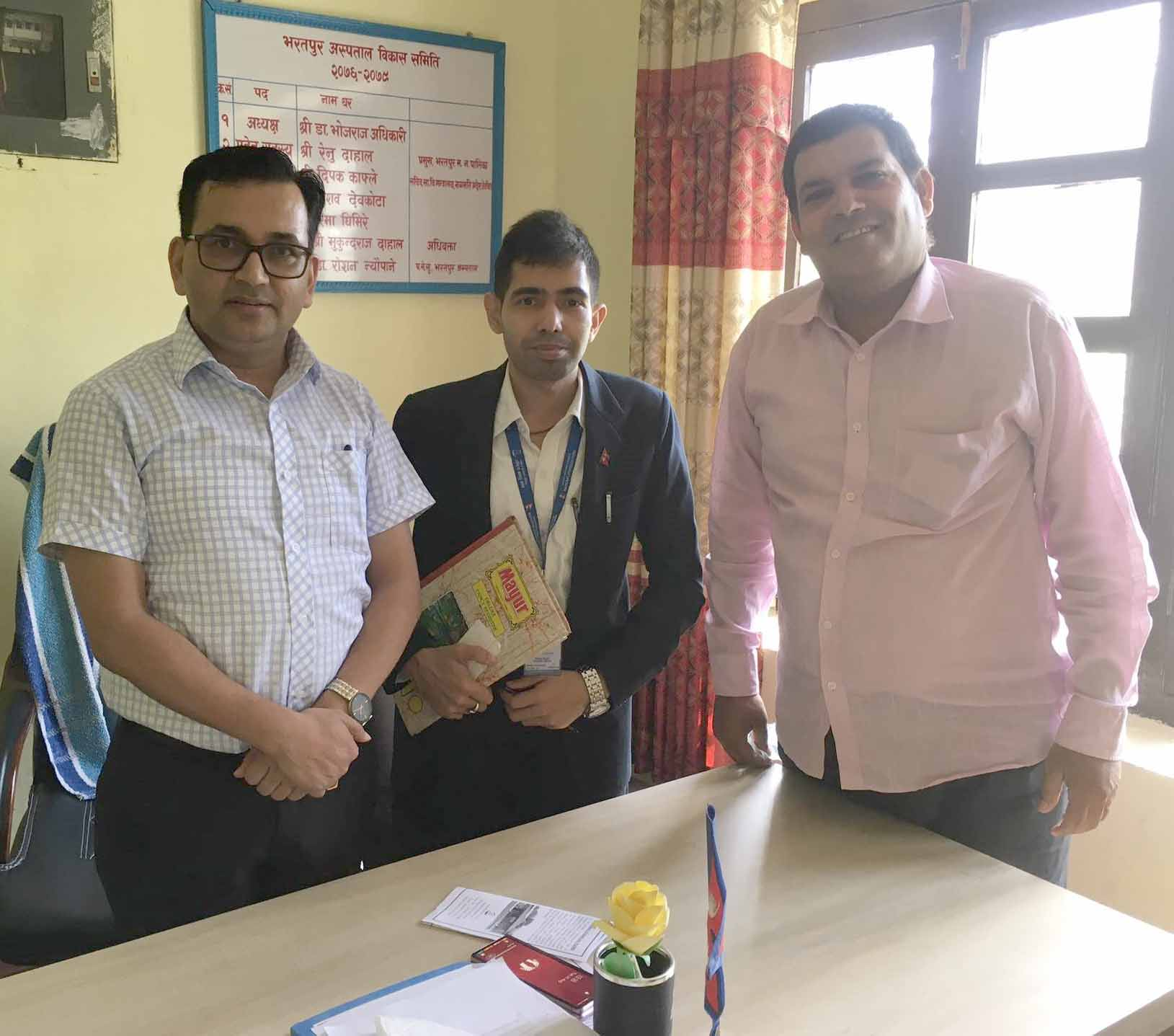 Sensitization Meeting in Bharatpur Hospital for Functional Linkage
